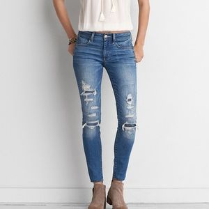 NEW Distressed Jeans • 4 Long